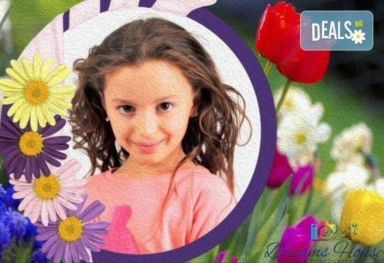 Индивидуално изработена празнична картичка за всеки повод, със снимка, надпис и рамка по желание от Студио Dreams House! - Снимка 2