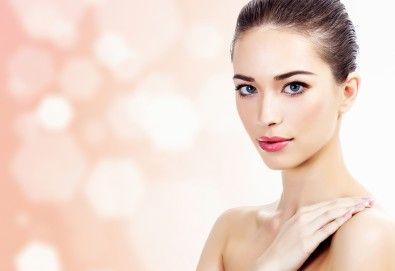 Почистване на лице с ултразвук и професионална немска козметика на Dr. Spiller и бонус: масаж на лице в салон за красота Хармония! - Снимка