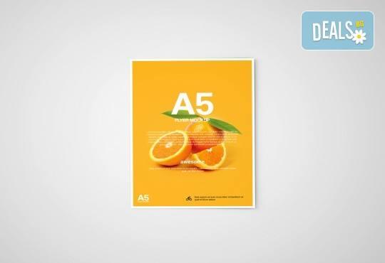 За Вашия бизнес! Изработка на 1000 бр. флаери формат А5 с дизайн на клиента, пълноцветен печат, от Хартиен свят! - Снимка 1