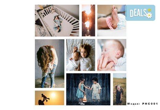 Изненадайте любим човек! Фотоколаж с дизайн, размер и брой снимки по избор на клиента от Онлайн магазин за подаръци Банана! - Снимка 1
