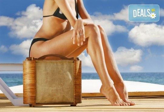 Идеално тяло! 5 или 7 антицелулитни процедури: кавитация, терапия с глина, сауна одеало, целутрон, пресотерапия, вибро колан и crazy fit в Senses Massage & Recreation! - Снимка 1