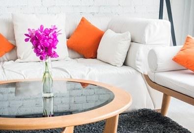 За чист и уютен дом! Професионално пране и подсушаване на 6 седящи места на диван от почистване КИМИ! - Снимка