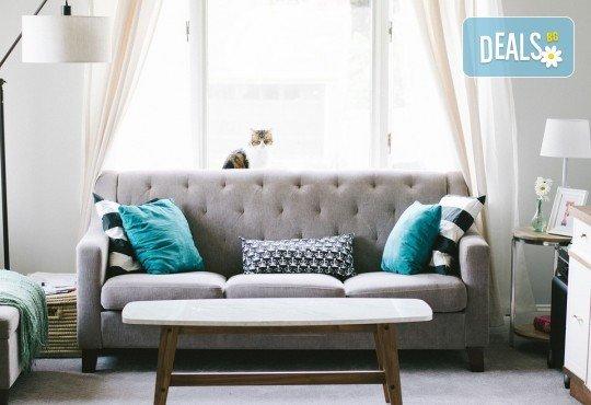 За чист и уютен дом! Професионално пране и подсушаване на 6 седящи места на диван от почистване КИМИ! - Снимка 2