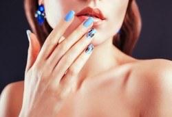 Ноктопластика чрез изграждане с гел и маникюр с гел лак Blusky в салон за красота Хармония! - Снимка