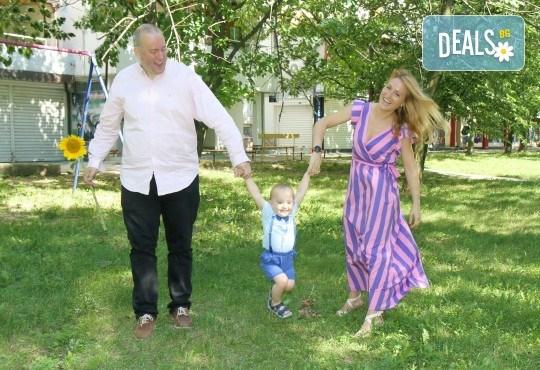 Фото заснемане на детска, семейна или индивидуална фотосесия на открито, с безплатни забавни аксесоари и подарък DVD! - Снимка 14