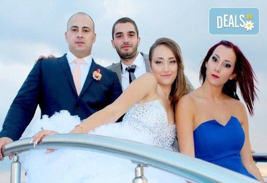 Фото и видео заснемане на сватбено тържество, промо пакет: цялостно фотозаснемане, видеозаснемане, фотосесия, ефектни кадри с камера GoPro, видеоклип и подарък - Снимка 20