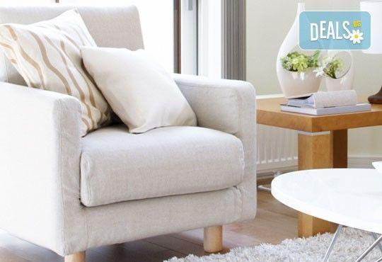 Пране до 6 седящи места - мека мебел или столове + пране на двоен матрак (едностранно) или килим до 5кв.м. от Професионално почистване Брилянтин БГ! - Снимка 3