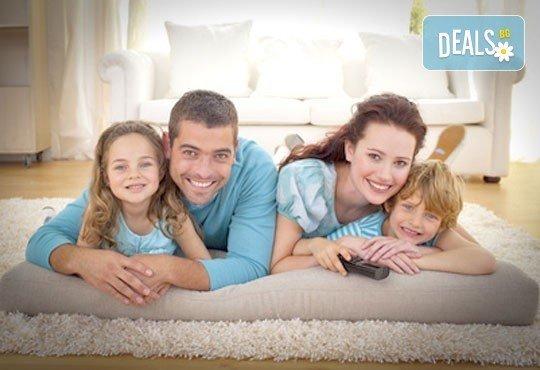 Пране до 6 седящи места - мека мебел или столове + пране на двоен матрак (едностранно) или килим до 5кв.м. от Професионално почистване Брилянтин БГ! - Снимка 1