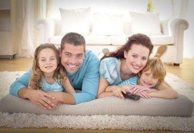 Пране до 6 седящи места - мека мебел или столове + пране на двоен матрак (едностранно) или килим до 5кв.м. от Професионално почистване Брилянтин БГ! - Снимка