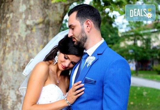 Фото и видео заснемане на сватбено тържество: цялостно фотозаснемане, видеозаснемане, фотосесия, арт фотосесия, дрон, екшън камера GoPro, видеоклип и 2 подаръка - Снимка 18