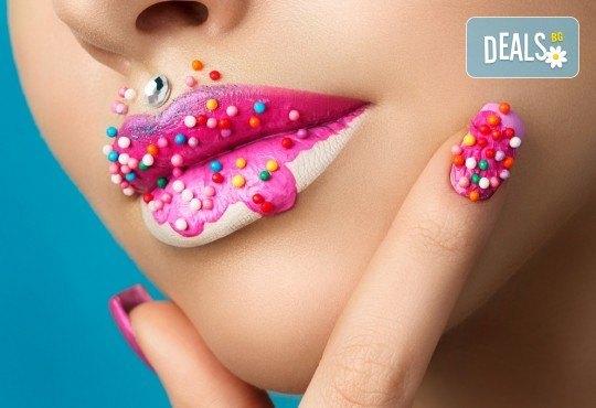 Ноктопластика чрез изграждане с гел, маникюр с гел лак и декорация по избор в козметично студио Ма Бел! - Снимка 4