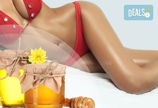Антицелулитен масаж на бедра и седалище с мед в салон за красота Женско Царство в Студентски град или в Центъра! - Снимка 1