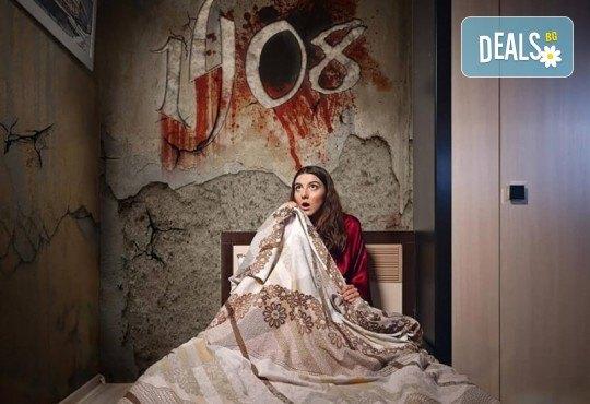 1 час отборна игра в escape стая на ужасите 1408 по историята на Стивън Кинг
