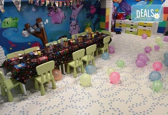 2 часа детски рожден ден с фокусник-клоун, двама аниматори, много игри, детска дискотека, украса, подарък за рожденика, храни и напитки за всяко дете от Детски парти център АбракадабрА! - Снимка 7