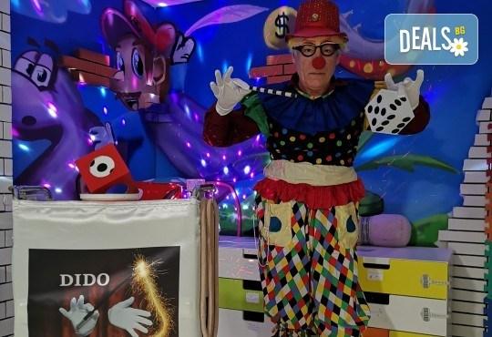 2 часа детски рожден ден с фокусник-клоун, двама аниматори, много игри, детска дискотека, украса, подарък за рожденика, храни и напитки за всяко дете от Детски парти център АбракадабрА! - Снимка 2