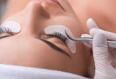 Поставяне на копринени, диамантени или кашмирени мигли по метода косъм по косъм в NSB Beauty! - Снимка