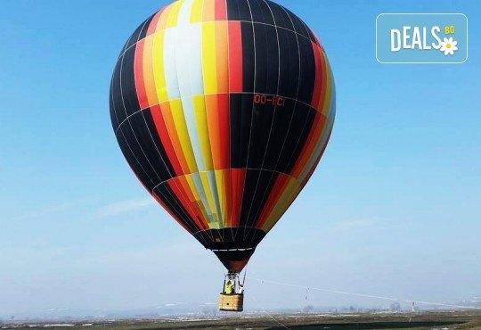Панорамно издигане с балон, Full HD заснемане край София от Extreme
