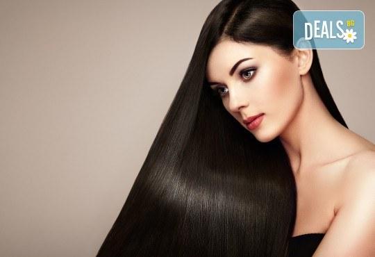 Интензивна заздравяваща арабска терапия с ултразвукова преса и арганово масло за силно изтощена коса + подстригване на връхчета и сешоар в Angels of Beauty, Студентски град! - Снимка 1