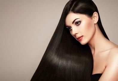 Интензивна заздравяваща арабска терапия с ултразвукова преса и арганово масло за силно изтощена коса + подстригване на връхчета и сешоар в Angels of Beauty, Студентски град! - Снимка