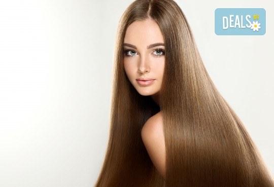 Интензивна заздравяваща арабска терапия с ултразвукова преса и арганово масло за силно изтощена коса + подстригване на връхчета и сешоар в Angels of Beauty, Студентски град! - Снимка 3
