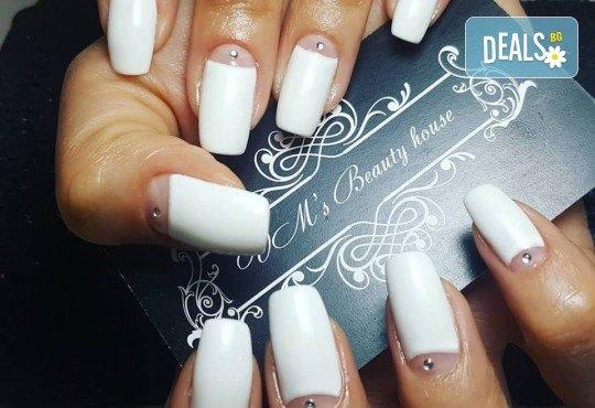 Красиви цветове върху ноктите! Маникюр с гел лак, сваляне на стар гел лак и 4бр. ръчно рисувани декорации във VM's Beauty House! - Снимка 5