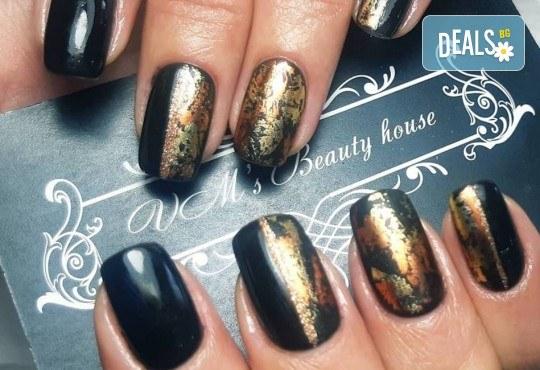 Красиви цветове върху ноктите! Маникюр с гел лак, сваляне на стар гел лак и 4бр. ръчно рисувани декорации във VM's Beauty House! - Снимка 2