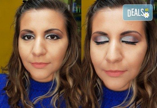 Изискана визия с дневен или вечерен грим със или без поставяне на мигли от Makeup by MM! - Снимка 5