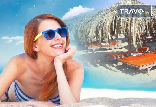 За 1 ден на плажа Амолофи близо до Неа Перамос, Гърция! Транспорт, застраховка и водач от Глобус Турс! - Снимка 1