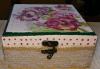Дървена кутийка за бижута, изработена чрез техниката декупаж с парфюм Българска роза или изящна четка за коса от Хартиен свят! - thumb 4