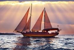 Време е за море, слънце и морски приключения! Добре дошли на борда на круиз в Райския залив край Созопол - 4 часа, с разхлаждаща напитка, слънчеви бани, плуване! - Снимка