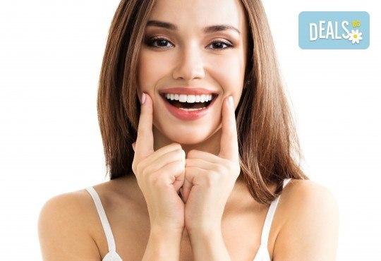 Професионално домашно избелване на зъби с индивидуални шини, профилактичен преглед, ултразвуково почистване на плака и зъбен камък в Deckoff Dental! - Снимка 3