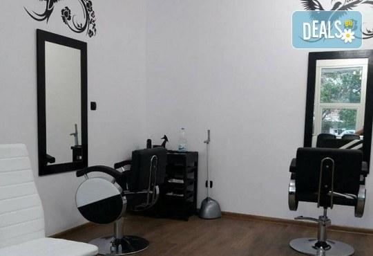 Нов цвят на косата! Боядисване с боя на клиента и оформяне на прическа със сешоар в салон Bibi Fashion! - Снимка 7