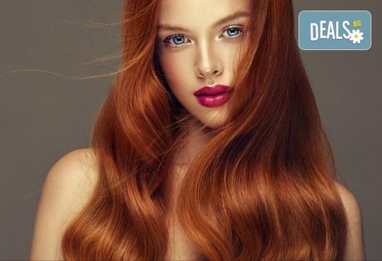 Нов цвят на косата! Боядисване с боя на клиента и оформяне на прическа със сешоар в салон Bibi Fashion! - Снимка 2