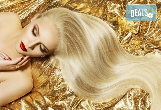 Нов цвят на косата! Боядисване с боя на клиента и оформяне на прическа със сешоар в салон Bibi Fashion! - Снимка 3