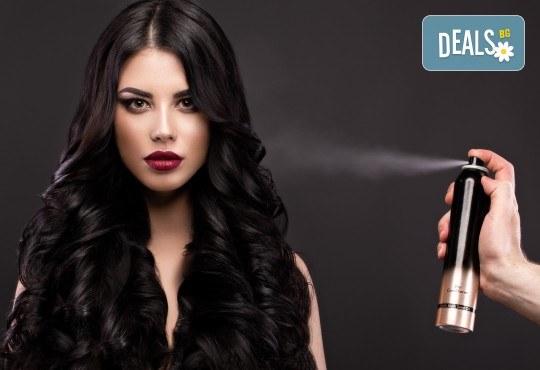 Нов цвят на косата! Боядисване с боя на клиента и оформяне на прическа със сешоар в салон Bibi Fashion! - Снимка 4