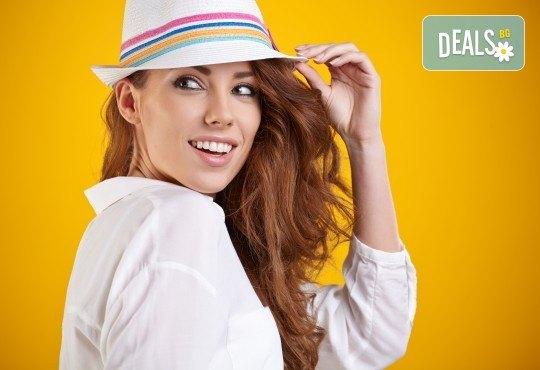 Нов цвят на косата! Боядисване с боя на клиента и оформяне на прическа със сешоар в салон Bibi Fashion! - Снимка 1