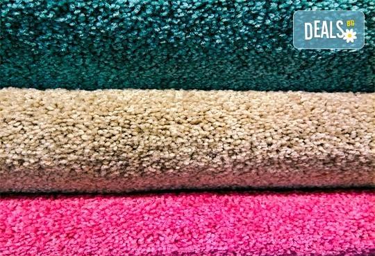 Пране и подсушаване на килими, мокети и пътеки от професионално почистване КИМИ