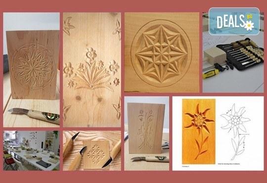 Интересно, завладяващо и вдъхновяващо! Еднодневен уъркшоп по дърворезба с включени материали и инструменти от Ателие Цветна магия! - Снимка 1