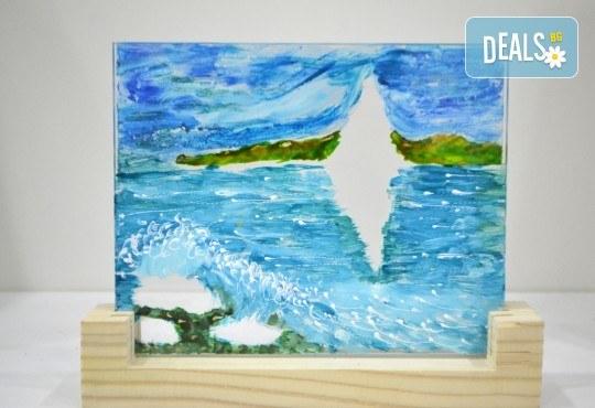 Еднодневен уъркшоп за рисуване върху стъкло - 3D картина, с включени бои и материали от Ателие Цветна магия! - Снимка 4