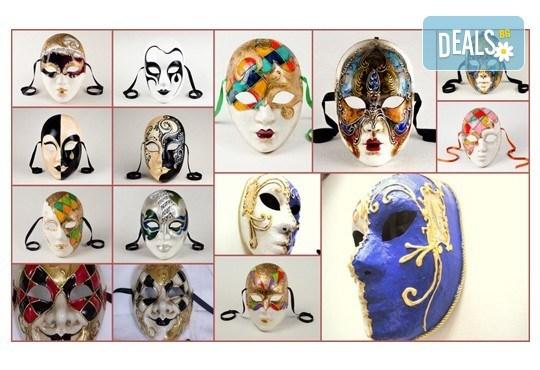 Еднодневен уъркшоп по изрисуване на венецианска маска в Ателие Цветна магия с включени материали + чаша вино или бира! - Снимка 1