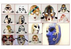 Еднодневен уъркшоп по изрисуване на венецианска маска в Ателие Цветна магия с включени материали + чаша вино или бира! - Снимка