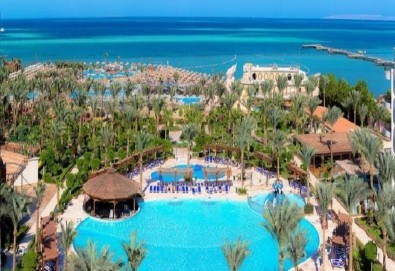 Почивка в Египет през есента! 7 нощувки на база All Inclusive в хотел Hawaii Le Jardain Aqua Park 5* в Хургада, самолетен билет с директен чартърен полет и трансфери - Снимка