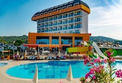 Почивка в Throne Beach Resort & SPA 5*, Сиде! 7 нощувки на база All Inclusive, ползване на басейни и СПА център, фитнес, шезлонг и чадър - Снимка
