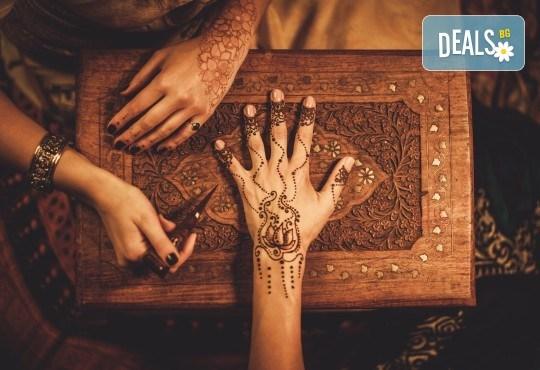 Искате ли да си направите собствена татуировка? Еднодневен уъркшоп за направа на временна татуировка с къна в ателие Цветна магия! - Снимка 1