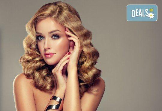 Масажно измиване с дълбоко възстановяващ и подхранващ шампоан, подстригване и оформяне на прическа със сешоар в салон Bibi Fashion! - Снимка 3