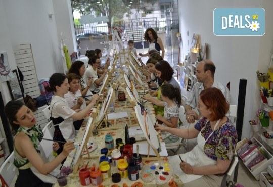 Рисуване Стъпка по стъпка с акрил с включени материали и съвети от професионален художник в ателие Цветна магия! - Снимка 2