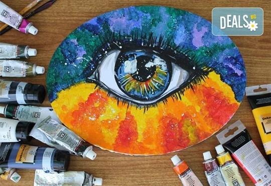 Рисуване Стъпка по стъпка с акрил с включени материали и съвети от професионален художник в ателие Цветна магия! - Снимка 1