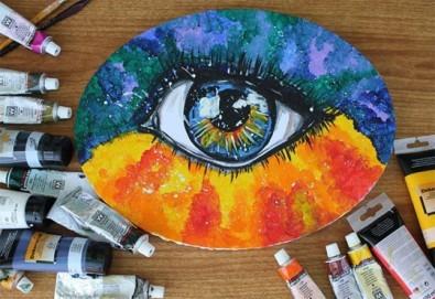 Рисуване Стъпка по стъпка с акрил с включени материали и съвети от професионален художник в ателие Цветна магия! - Снимка
