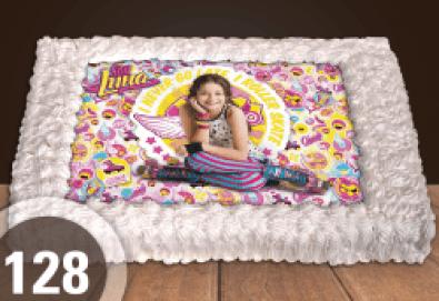 Торта за момичета! Красиви торти със снимкa с герои от любим филм за малки и големи госпожици от Сладкарница Джорджо Джани! - Снимка