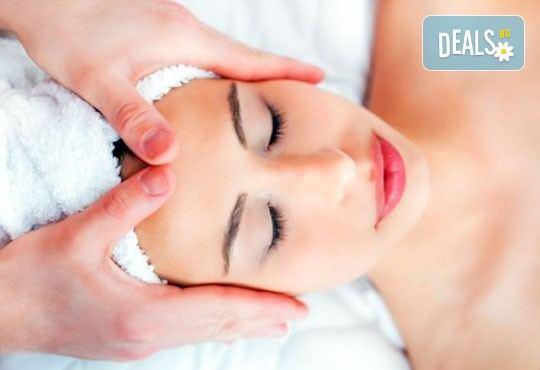 Дълбоко почистване на лице и шия в 10 стъпки, точков масаж Zensei, лимфен дренаж със студени вулканични камъни и маска на Клеопатра от Дерматокозметични центрове Енигма - Снимка 3